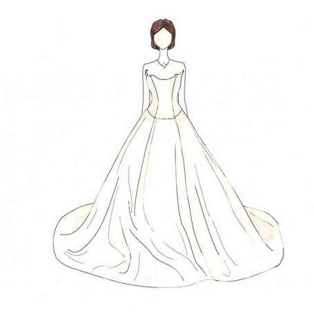 Illustrations of every iconic wedding dress ever