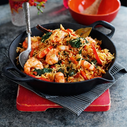 Prawn and spinach biryani easy rice recipes red online forumfinder Choice Image