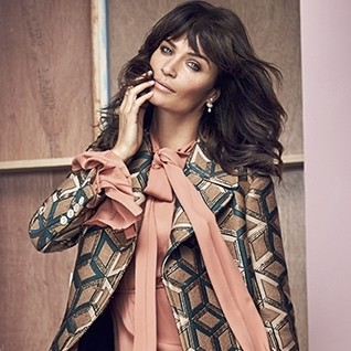 Helena Christensen wears latest Gucci collection for this month's Red cover