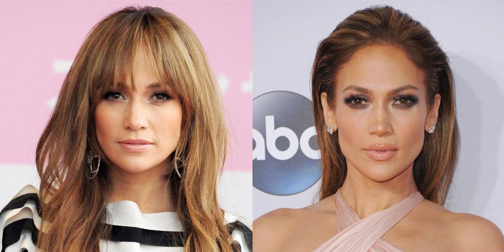 Celebrities with and without bangs | Celebrity fringes ...
