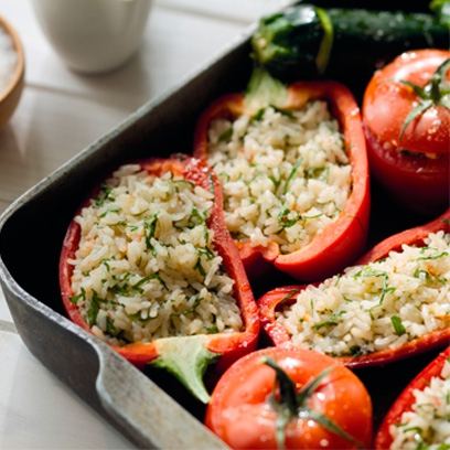 Stuffed vegetables easy vegetarian recipes red online ingredients forumfinder Choice Image