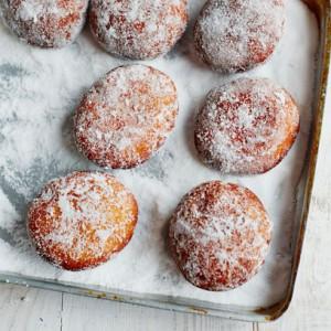 John Whaite's Black cherry doughnuts