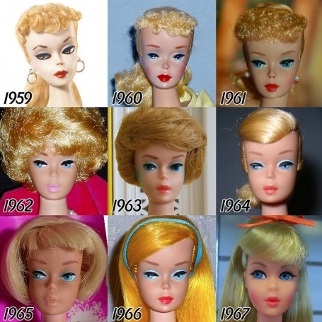The beauty evolution of Barbie throughout the years