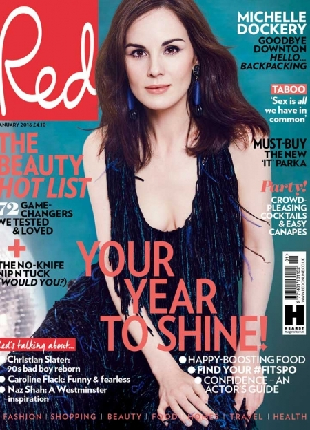 michelle dockery from downton abbey - Red cover shoot