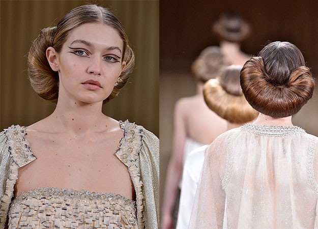 Hairstyle Ideas Couture Fashion Week Trends Red Online - Croissant hairstyle bun
