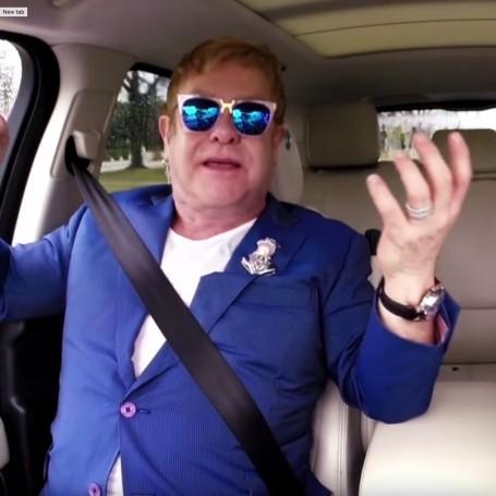 Elton John does Carpool Karaoke