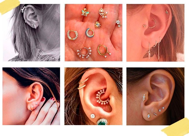 Maria Tash reveals the best piercing after care tips | How ... Ear Piercings Cartilage