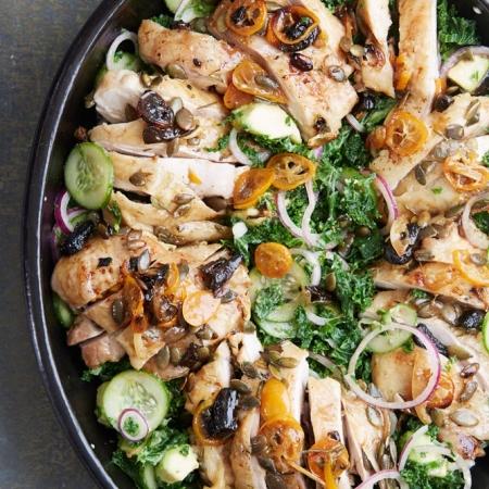 Roast chicken kale and avocado salad easy summer salad recipes lisa linder forumfinder Gallery