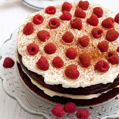 Gluten Free Chocolate And Raspberry Gateau Easy Dessert