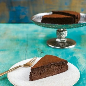 Sabrina Ghayour's Dark Chocolate, Cardamom and Espresso Mousse Cake