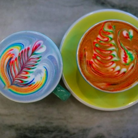 The rainbow latte