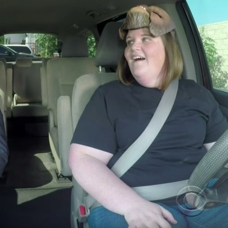 Chewbacca mum taking James Corden to work is genius