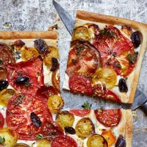 Rustic Mediterranean Tomato Tart