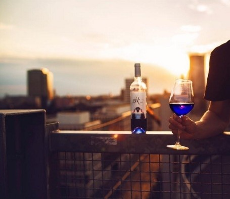 Brighten up your summer BBQ with blue wine