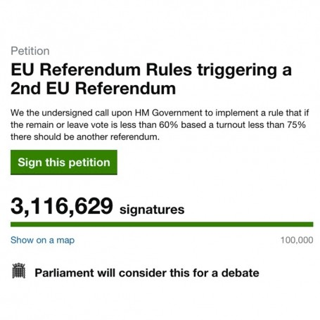 Bregret? More than 3 million sign petition asking for second EU Referendum