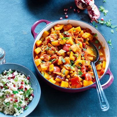 Moroccan vegetable tagine easy vegetarian recipes red online moroccan vegetable taginetagines are irresistible rich stews from north africa and this vegetarian version features sweet satisfying squash and healthy forumfinder Gallery