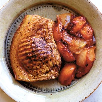 Nigel Slaters Pork Chop With Plum Chutney