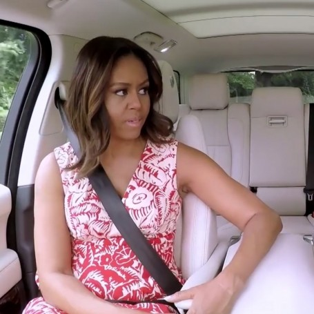 Michelle Obama does Carpool Karaoke