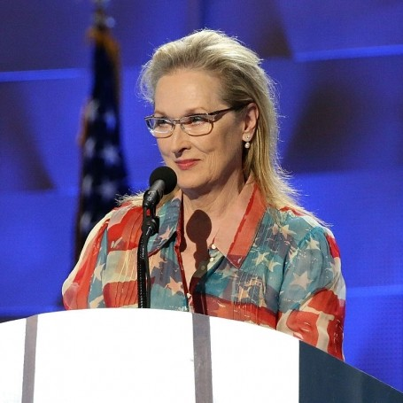 Meryl Streep is pretty happy about Hillary Clinton