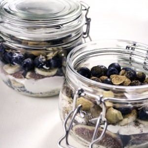Overnight Figs and Buckwheat Breakfast Jar