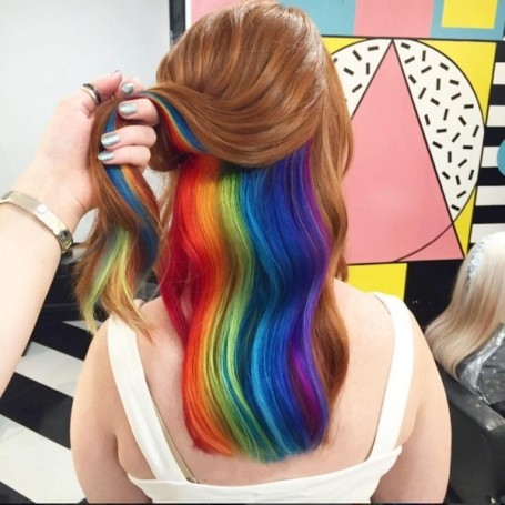 How to do hidden rainbow hair