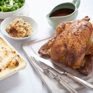 Hairy Bikers' Classic Roast Chicken with Sage and Onion Stuffing