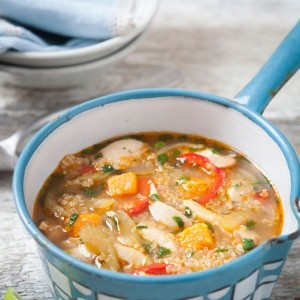 Peruvian Chicken Soup with Quinoa