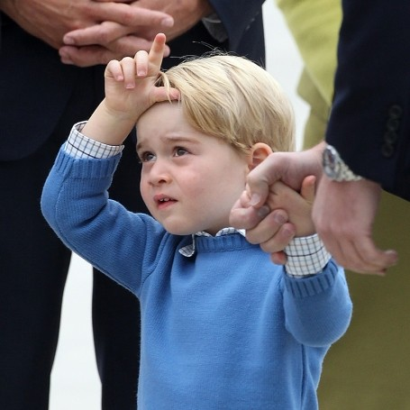 Watch Prince George leave Canadian prime minister Justin Trudeau hanging