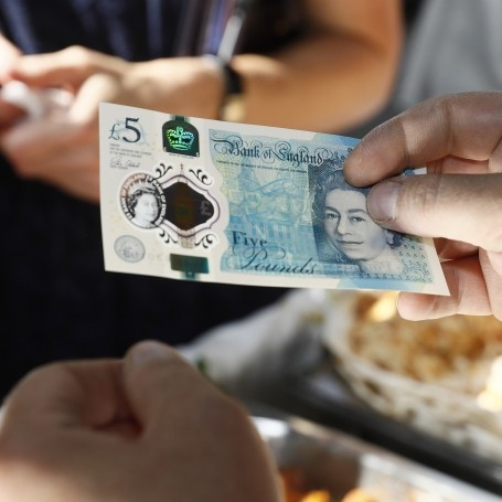The new £5 notes aren't suitable for vegetarians