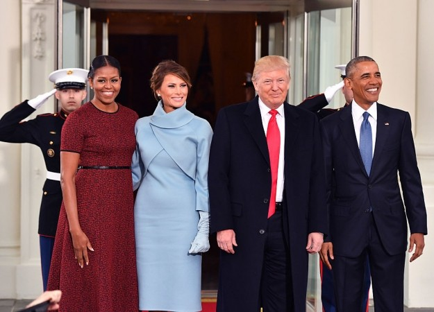 Watch the obamas greet donald and melania trump at the white house getty m4hsunfo