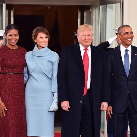 Watch the Obamas Greet Donald and Melania Trump at the White House