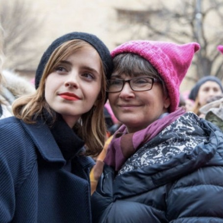 Emma Watson marched with her mum