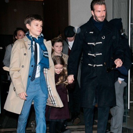 The entire Beckham clan came out to support Victoria's fashion show