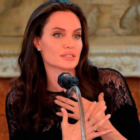 Angelina Jolie was given a private tour of Buckingham Palace