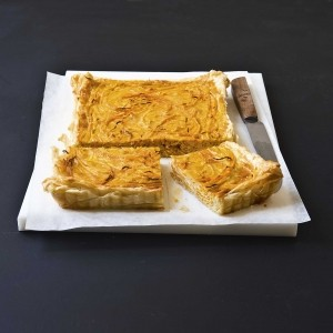 Butternut squash tart with coconut and curry