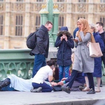 Muslim woman pictured during Westminster attack speaks out