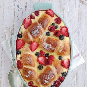 Summer bread and butter pudding