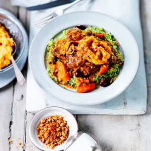 Lamb and orange stew with minted couscous