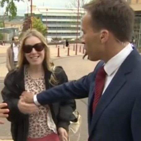 BBC reporter slapped by woman after 'grabbing her boob'