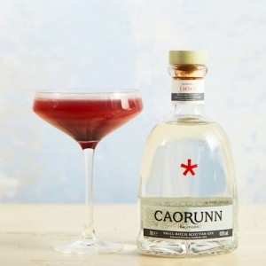 The red apple rose gin cocktail