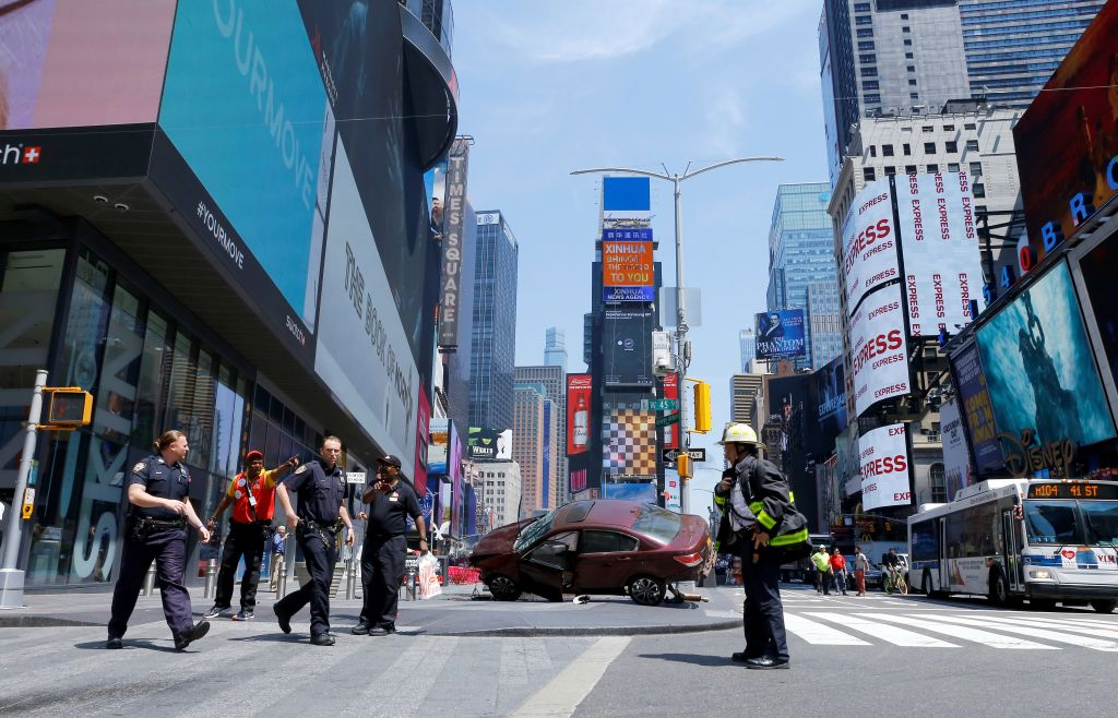 Times square movie accident