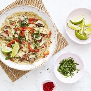 Madeleine Shaw's Thai green curry noodle soup with a twist