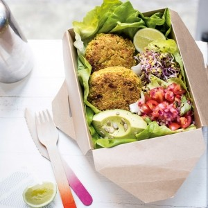 The Food Medic's tandoori chickpea and courgette burgers