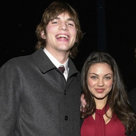 Ashton Kutcher on his first kiss with Mila Kunis on-screen and their first real one off