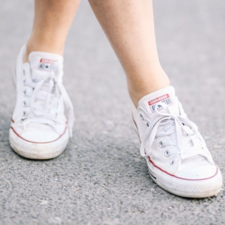 How to clean white Converse trainers