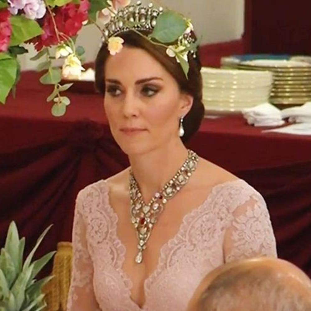 Kate Middleton Wears Princess Dianas Tiara Red Online