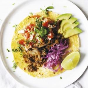 Smoked lentil tacos with Pico de Gallo