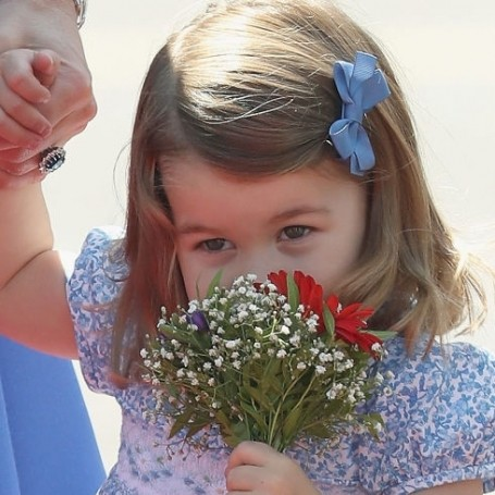 Princess Charlotte is your Wednesday reminder to stop and smell the flowers