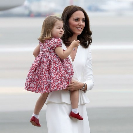 Princess Charlotte wears Prince Harry's hand-me-down shoes