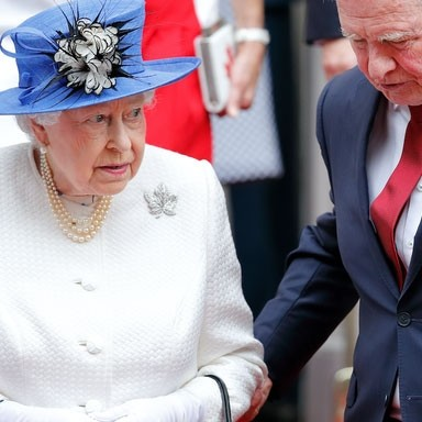 Meanwhile in Canada, an official broke royal protocol by touching Queen Elizabeth